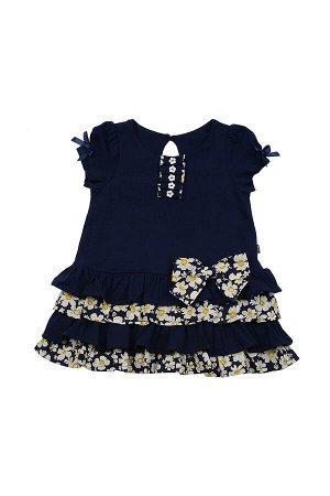 Платье комбинированное (92-116см) UD 1868(2)синий
