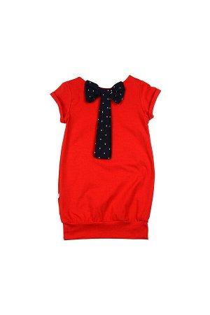 Платье с бантом (98-122см) UD 0633(4)красный