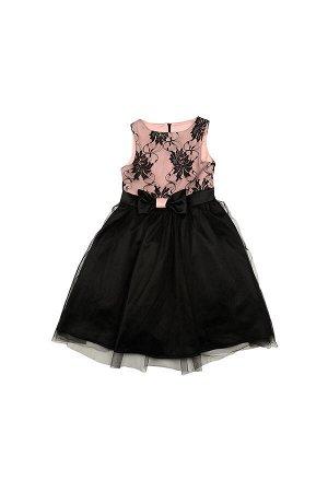 Платье (122-146см) UD 6183(2)роз/черный