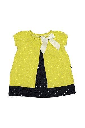Платье комбинированное (92-116см) UD 1669 неон/син