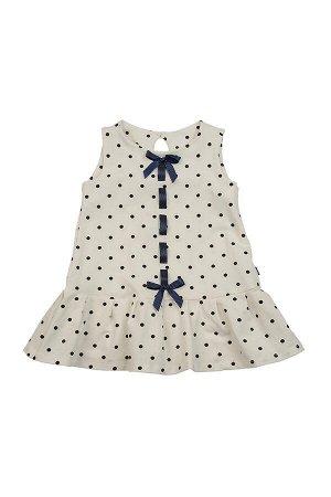 Платье с атласной лентой (92-116см) UD 1490 горох
