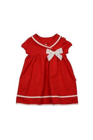 Платье с окантовкой (98-122см) UD 1609(2)красн/бел