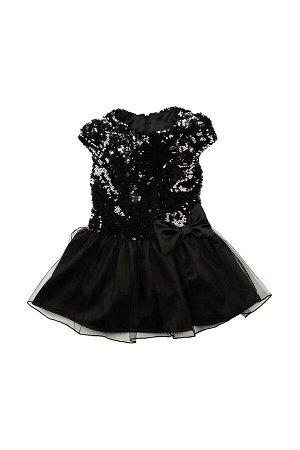 Платье, UD 6174 черн/сереб