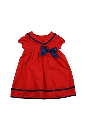 Платье с окантовкой (98-122см) UD 1609(1)красн/син