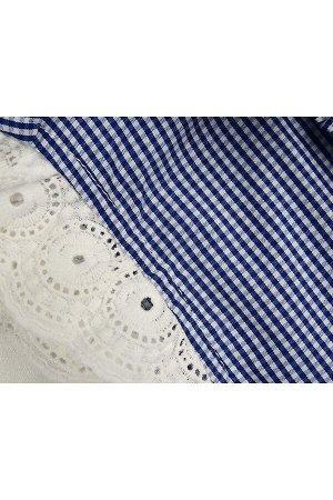 Платье в клетку (98-122см) UD 4563(2)син клетка