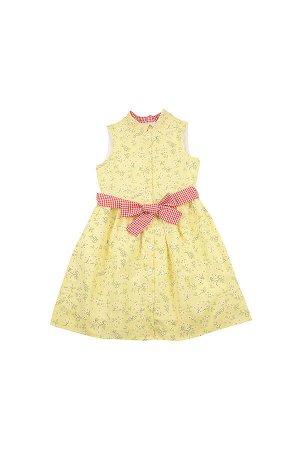 Платье UD 6318 желт/цветы