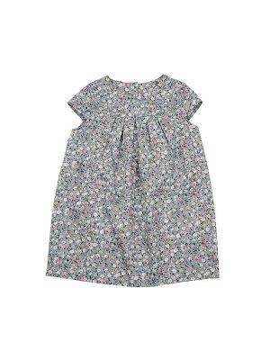Платье (98-116см) UD 6312(1)цветы/серый