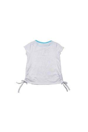 Футболка для девочки (92-116см) UD 3223(2)бел/бирюз