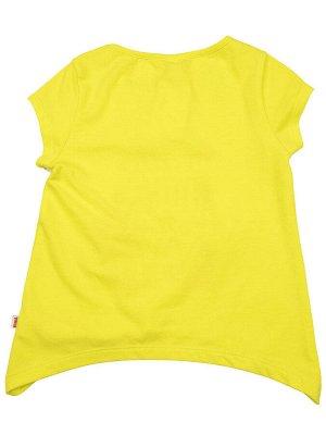 Футболка для девочки (98-122см) UD 3156(1)неон желтый