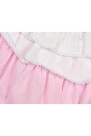 Футболка на манжете (98-122см) UD 0719(1)розовый