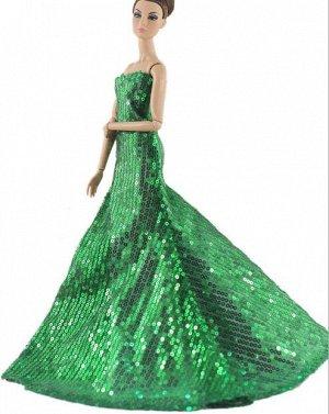 Платье зеленое блестящее (с пайетками)