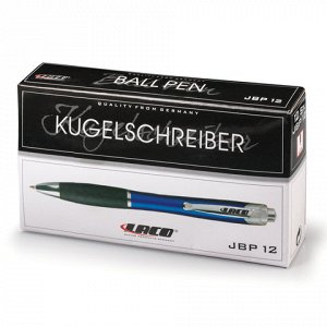 Ручка шариковая автоматическая LACO (ЛАКО, Германия), СИНЯЯ, корпус синий, узел 1 мм, линия письма 1 мм, JBP 12
