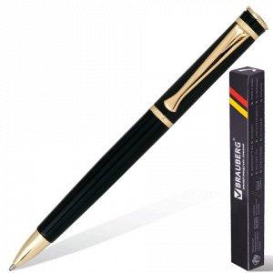 141416 Ручка бизнес-класса шариковая BRAUBERG Perfect Black, корп.черный, узел 1мм,линия 0,7мм,синяя,141416