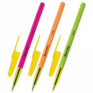 """Ручка шариковая BRAUBERG """"Color"""", СИНЯЯ, корпус ассорти, узел 1 мм, линия письма 0,5 мм, 141507"""