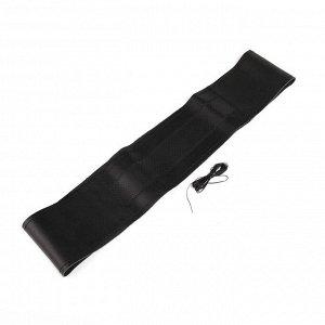 Сшивной чехол Cartage на руль 38 см, натуральная кожа с перфорацией, черный