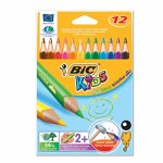 """Карандаши цветные утолщенные BIC """"Triangle"""", 12 цв, пластико"""