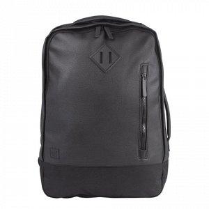 """Рюкзак BRAUBERG молодежный с отделением для ноутбука, """"Квадро"""", искуственная кожа, черный, 44х29х13 см, 227088"""