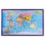 Коврик-подкладка настольный для письма (590х380 мм), с картой мира, BRAUBERG, 236777