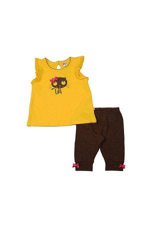 Комплект для девочки (92-116см) UD 1727/3537(2)желтый