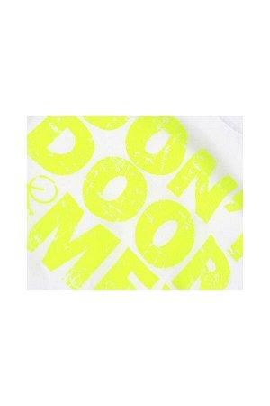 Футболка с принтом (98-122см) UD 0188(18)бел/салат