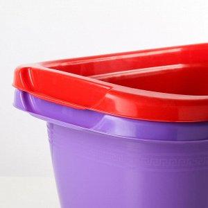 Таз пластмассовый овальный 18 л, цвет МИКС