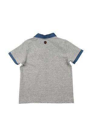 Футболка - поло (98-122см) UD 4633(1)серый