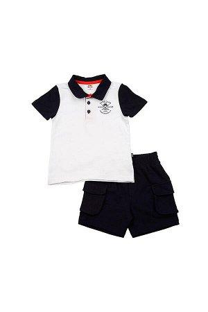 Комплект поло+шорты (98-122см) UD 1948/1949 бел/син