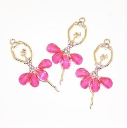 Декоративный элемент Цв.Золото. Балерина. Розовый.
