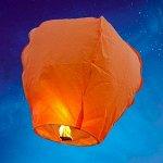 Небесный фонарик Конус оранжевый