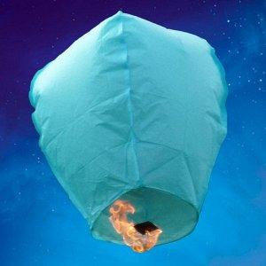 Небесный фонарик Конус голубой