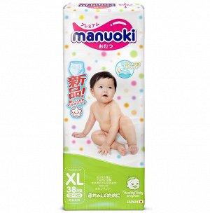 Трусики MANUOKI XL38 12-22 кг, 38шт