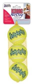 """KONG игрушка для собак Air """"Теннисный мяч"""" маленький (в упаковке 3 шт.) 5 см"""