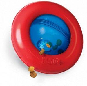 KONG игрушка интерактивная под лакомства Gyro 13 см малая