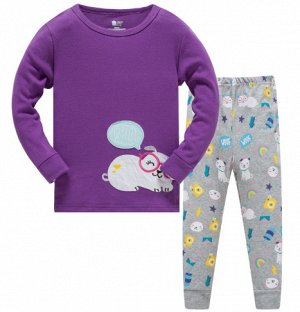 Пижама Пижама трикотаж. По отзывам маломерит, можно взять на 1 размер больше. 2Т(90 см) 3Т(95 см) 4Т(100 см) 5Т(110 см) 6Т(120 см) 7Т(130 см) 8Т(140 см)