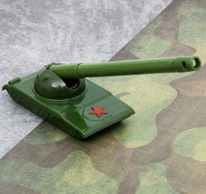Ручка Танк Описание: Цвет: Хаки. Размеры: ручка 12 см., танк 7 х 4 см. Материал: Пластик. Тематика: Милитари.  Ручка в виде танковой пушки цвета хаки с подставкой в виде танка. Подробнее: http://bigit