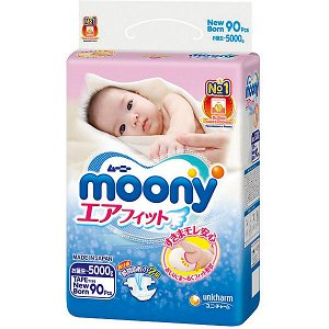Подгузники MOONY NB90 0-5 кг, 90шт