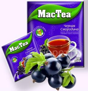 Напиток чайный MacTea растворимый Черная смородина 20пакетиков. Только в июле!