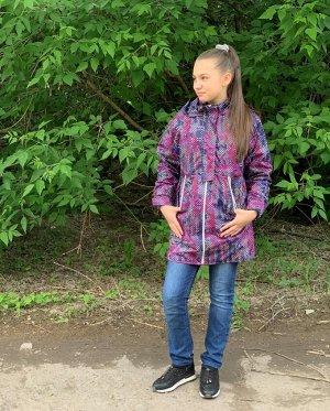 Куртка для девочек на флисе (Ткань верха плащевая Breathable Мембрана , подкладка флис 180, застежка-молния, воротник-стойка, ка