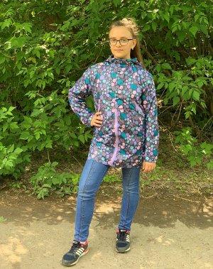 Куртка для девочек на флисе (Ткань верха плащевая Dewspo pu milky , подкладка флис 180. Застежка молния. Ветрозащитная планка пр