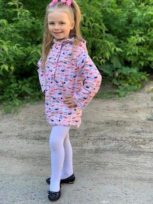 Куртка для девочек на флисе удлиненная