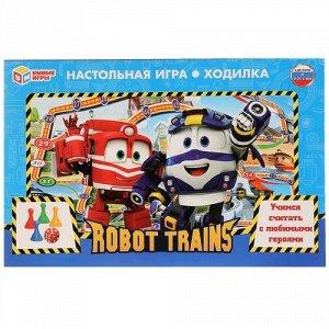 """Игра-ходилка Роботы поезда """"Умка"""" Робот Трейнс 33*22*3 см"""