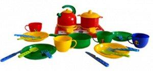 Кухня Галинка №7 плита, чайник, тарелки, пакет 22*16см