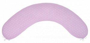 """Подушка для беременных """"AmaroBaby"""" 25*170 см. (файбер, бязь) сердечки розовые"""