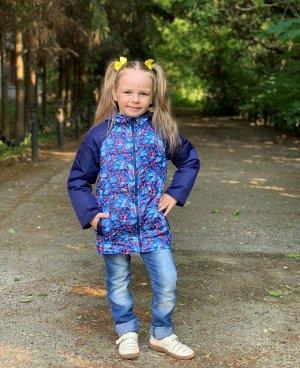 Куртка для девочек демисезонная (Ткань верха FITSYSTEM/ DEWSPO PU MILKY, утеплитель синтепон 200г/кв.м, подкладка Taffeta 190. в