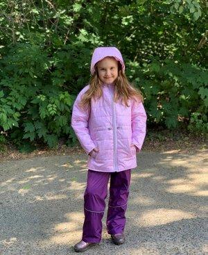 Куртка для девочек демисезонная (Ткань верха FITSYSTEM, утеплитель синтепон 200г/кв.м, подкладка Taffeta 190. в рукавах трикотаж