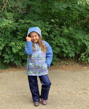 Куртка для девочек демисезонная (Ткань верха DEWSPO PU MILKY, утеплитель синтепон 200г/кв.м, подкладка Taffeta 190. в рукавах тр