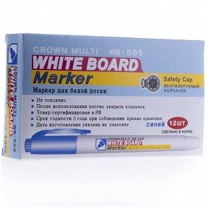 "Маркер для белых досок 2.0 мм Crown ""Multi Board Slim"" синий, пулевидный"