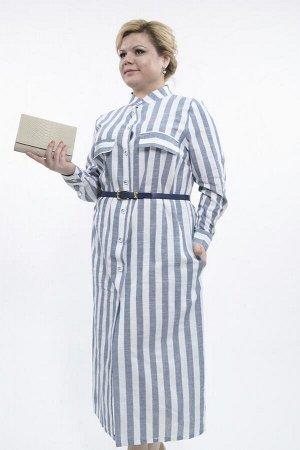 Платье Полоска лен