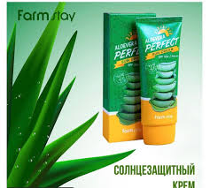 Farm Stay Aloe Vera Perfect Sun Cream SPF50+/PA+++ Солнцезащитный Крем с Экстрактом Алоэ 70 гр