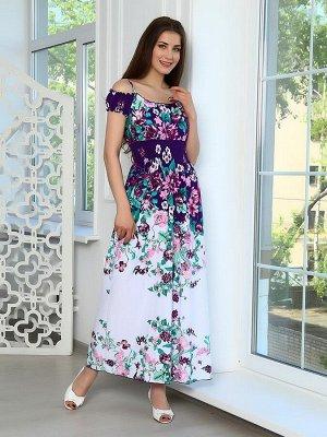 "Сарафан ""Camelia"" фиолет цветы"